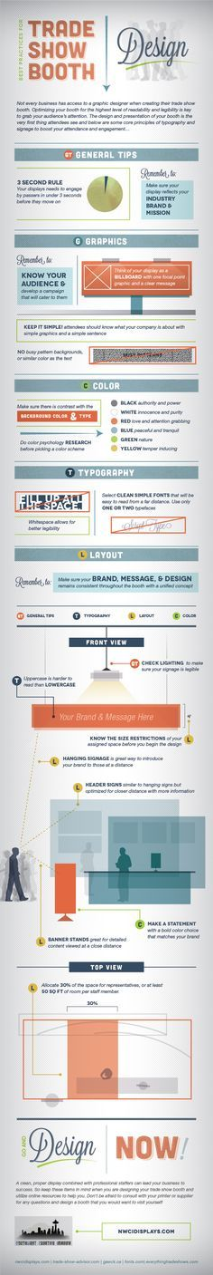 Best Practices Trade Show Booth Design - Northwest Creative Imaging #infographics #design #tradeshows