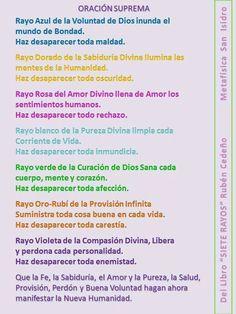 Oración decretos siete rayos