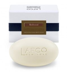 Lafco Redwood Bath Soap, 8.5 oz. by Lafco. $20.00. 8.5 oz Bath Soap Boxed. Oprah's Favorite Things 2012!!. LAFCO House & Home Redwood Den 8.5 oz Bath Soap. Woody and fresh with a hint of green: a mix of redwood, cedar and deep forest fern. A 100% vegetable base soap enriched with 14% olive oil and refined sweet almond oil and pure coconut oils.. Woody and fresh with a hint of green: a mix of redwood, cedar and deep forest fern. A 100% vegetable base (solvent free coc...