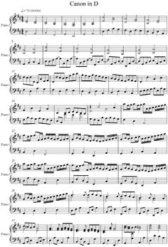 Pachelbel – Canon in D – Piano Version Pachelbel – Kanon in D – Klavierfassung Piano Sheet Music Classical, Easy Piano Sheet Music, Violin Sheet Music, Free Sheet Music, Piano Music, Music Sheets, Agnus Day, Cello Noten, Pachelbel's Canon