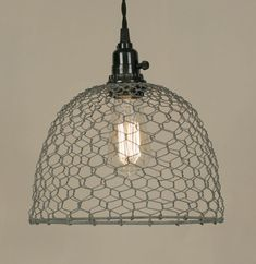 Chicken Wire Pendant Lamp - Marmalade Mercantile