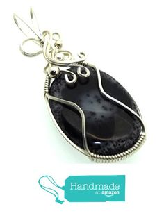 Merlinite Gemstone Sterling Silver Wire Wrapped Pendant from Angelleesa Designs https://www.amazon.co.uk/dp/B01LCWXG6E/ref=hnd_sw_r_pi_dp_e9L7xbXVP95CF #handmadeatamazon