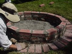Firepit idea.. but would love to do with good size rocks instead