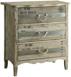 Completely Coastal: 22 Ideas to Makeover a Dresser Coastal, Beach & Nautical Style