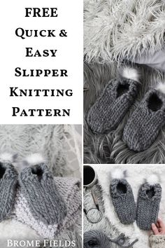 Includes 5 step-by-step instructional videos to help you alon Designer Knitting Patterns, Knitting Patterns Free, Knit Patterns, Free Knitting, Stitch Patterns, Knitting Short Rows, Knitting Stiches, Knitting Socks, Knit Slippers Free Pattern