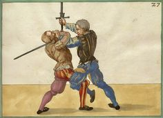 "Close combat with longswords from Paulus Hector Mair's ""De Arte Athletica"", circa 1542."
