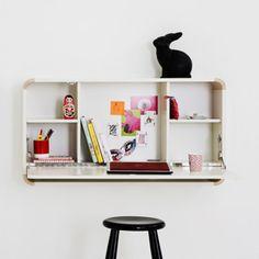 Chambre d'enfant : sélection de rangement spécial petits espaces : Bureau mural First - Déco - Plurielles.fr