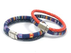 couples ethnic bracelet * couples fabric bracelet * woven bracelet * gifts for couples * azteck fabric bracelet * boyfriend girlfriend by CozyDetailz on Etsy