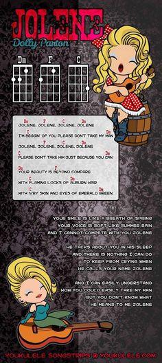 Love the SKA version of this one. Curious how it sounds on the uke! Dolly Parton - Jolene - ukulele I need a ukulele and play this Ukulele Chords Songs, Cool Ukulele, Ukulele Tabs, Ukulele Songs Beginner, Easy Ukelele Songs, Dolly Parton Jolene, Music Lessons, Guitar Lessons, Banjo