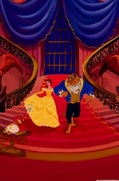 I still have my beauty and the beast comforter from my YOUNGIN years. Just another reason to love the Royal blue and yellow