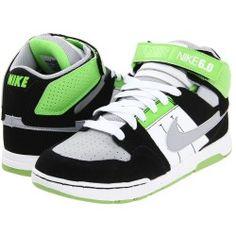 Nike 6.0 Kids - Mogan Mid 2 Jr (Toddler/Youth) (Wolf Grey/White/Black/Wolf Grey) - Footwear   www.findbuy.co