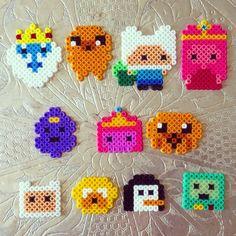 Adventure Time perler beads by dementhea
