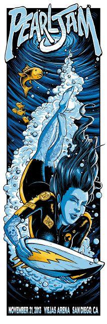 Pearl Jam Brandon Heart San Diego Poster Artist Edition On Sale Details