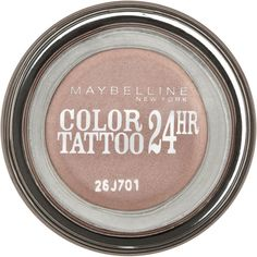 Maybelline Color Tattoo 24 Hour Eye Shadow Pink Gold (11 BAM) ❤ liked on Polyvore featuring beauty products, makeup, eye makeup, eyeshadow, maybelline eyeshadow, maybelline eye makeup, maybelline, maybelline eye shadow and gel eyeshadow