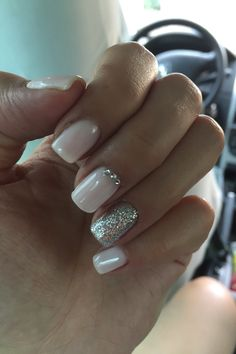 CND Shellac Romantic & Beau & glitter *