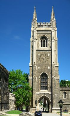 Soldiers' Tower is a bell and clock tower at the University of Toronto that commemorates members of the university who served in the World W. University Of Toronto, Canada Travel, Cool Places To Visit, The Good Place, Tower, World, Soldiers, Building, Hong Kong