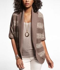 MARLED STRIPE COCOON COVER-UP at Express