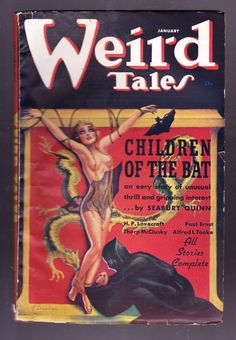 """WEIRD TALES (January 1937)  Cover by Margaret Brundage. Includes """"The Eater of Souls"""" by Henry Kuttner."""