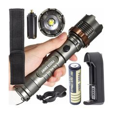 Iuhan Fashion Tactical Flashlight 5000LM XM-L T6 LED Zoomable Torch Lamp Battery Charger ** Check this awesome product by going to the link at the image.