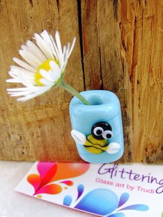 Mini Glass Vase Magnetic Don't Eat The by GlitteringprizeGlass, £4.50