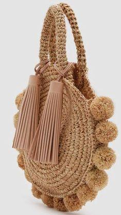 Wallpaper Tutorial and Ideas Crochet Handbags, Crochet Purses, Crochet Clutch, Crochet Bags, Purse Patterns, Crochet Patterns, Bag Women, Crochet Circles, Macrame Bag