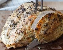 Herb roasted turkey breast by Ina Garten.  Made this last Thanksgiving and it was delicious!