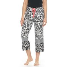 Women's Apt. 9 Pajamas: Monique Border Printed Crop Pajama Pants