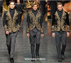 ethnic indian embroidery at Dolce Gabanna Milan's Fashion Week Autum Winter 2012-13 Collection