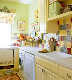 another cheerful laundry room