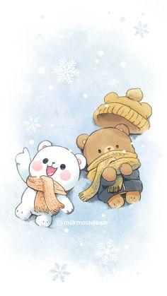 Cute Panda Wallpaper, Bear Wallpaper, Cute Disney Wallpaper, Kawaii Wallpaper, Cute Cartoon Wallpapers, Wallpaper Iphone Cute, Cute Love Wallpapers, Cute Bear Drawings, Cute Little Drawings