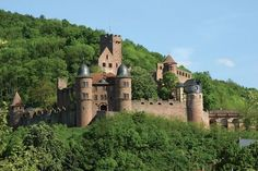 Wertheim Castle (Burg Wertheim), at the confluence of the Main and Tauber Rivers in Germany. Built in the12th century, and expanded during the 15th-17th centuries, it's still one of the largest castles in Germany. www.gct.com/... #Wertheim #Castle #Germany