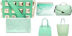 """""""mint"""" Awesome list on #clutches #satchels by aditi #fashion"""