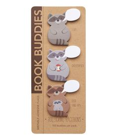 Look what I found on #zulily! Rollicking Raccoons Note Flag Book - Set of Two by Girl Of All Work #zulilyfinds