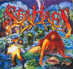 SEAHAGS - S/T Self-Titled Hard Rock / Heavy Metal Vinyl Album Information for Collectors & Record Price Guide #vinylrecords Rare Vinyl Records, Lp Vinyl, Gramophone Record, Glam Metal, Metal Albums, Bow Wow, Heavy Metal Bands, Price Guide, Stars At Night