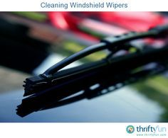 This is a guide about cleaning windshield wipers. You can improve the effectiveness of your windshield wipers by periodically cleaning the wiper blades.