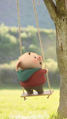 Pig Wallpaper, Funny Phone Wallpaper, Kawaii Wallpaper, Cute Baby Pigs, Cute Piglets, This Little Piggy, Little Pigs, Small Pigs, Pig Illustration