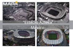"""#BuenosDías: LISTOS PARA EL PARTIDO??... """"Estadio Azteca"""" el 3er más grande estadio de fútbol del mundo, diseñado por los Arq. Pedro Ramírez y Rafael Mijares, se construyó con motivo de la novena Copa Mundial de Fútbol. #México"""