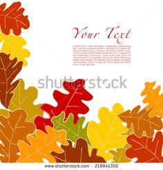 Autumn Leaves Vector Illustration On White Background - 219941350 : Shutterstock