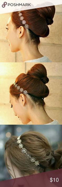 🌸New Arrival🌸Gold Flower Hairband 🌸Beautiful Gold plated flower hairband 🌸Elasticity Band  💟Bundle with any item for $5!💟 Jewelry
