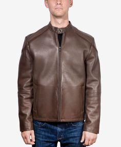 Boston Harbour Men's Bonded Leather Moto Jacket