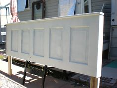 DesignDreams by Anne: Old Door Headboard (another easy peasy project)