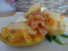 Czary w kuchni- prosto, smacznie, spektakularnie.: Ziemniaki faszerowane z sosem jogutowym Baked Vegetables, Shrimp, Potatoes, Meat, Baking, Food, Potato, Bakken, Essen
