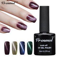 Vrenmol 8ml Professional UV LED Magnetic Effect Gel Nail Polish Cat Eyes Soak Off UV Gel Lacquer Esmaltes Gel Varnish