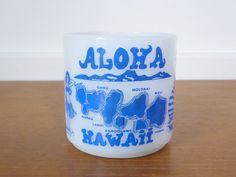 Vintage Fire King Aloha Hawaii coffee mug by Sweetpotatojack on Etsy