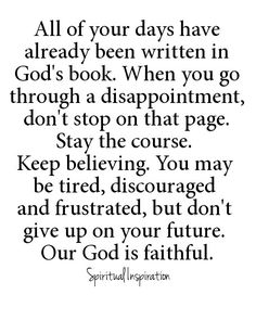 Don't stop on that page; stay the course. Our God is faithful! <3