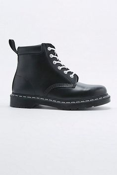 Dr. Martens Collar 6-Eyelet Black Boots - Urban Outfitters