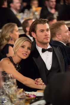 """Chris Hemsworth and Elsa Pataky. I saw her last night on Fast and Furious 6 and was like, """"Holy crap, that's Thor's wife!!"""" Lol"""