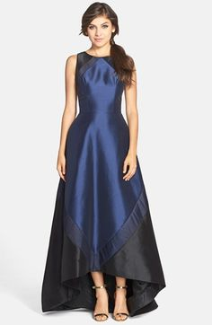 Theia Sleeveless Colorblock Gown available at #Nordstrom