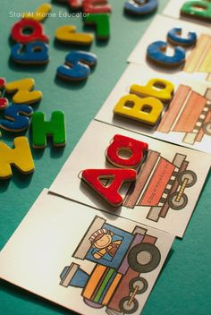 This alphabet train activity was so many ways for playful learning