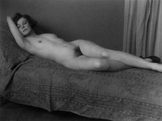 Paul Outerbridge, Paula Nude on Bed, 1923-26